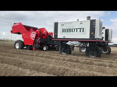 Sadnja krompira uz pomoć poljskog robota
