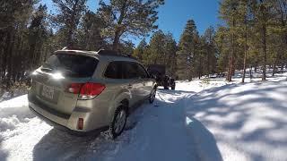 Subaru Stuck in Driveway