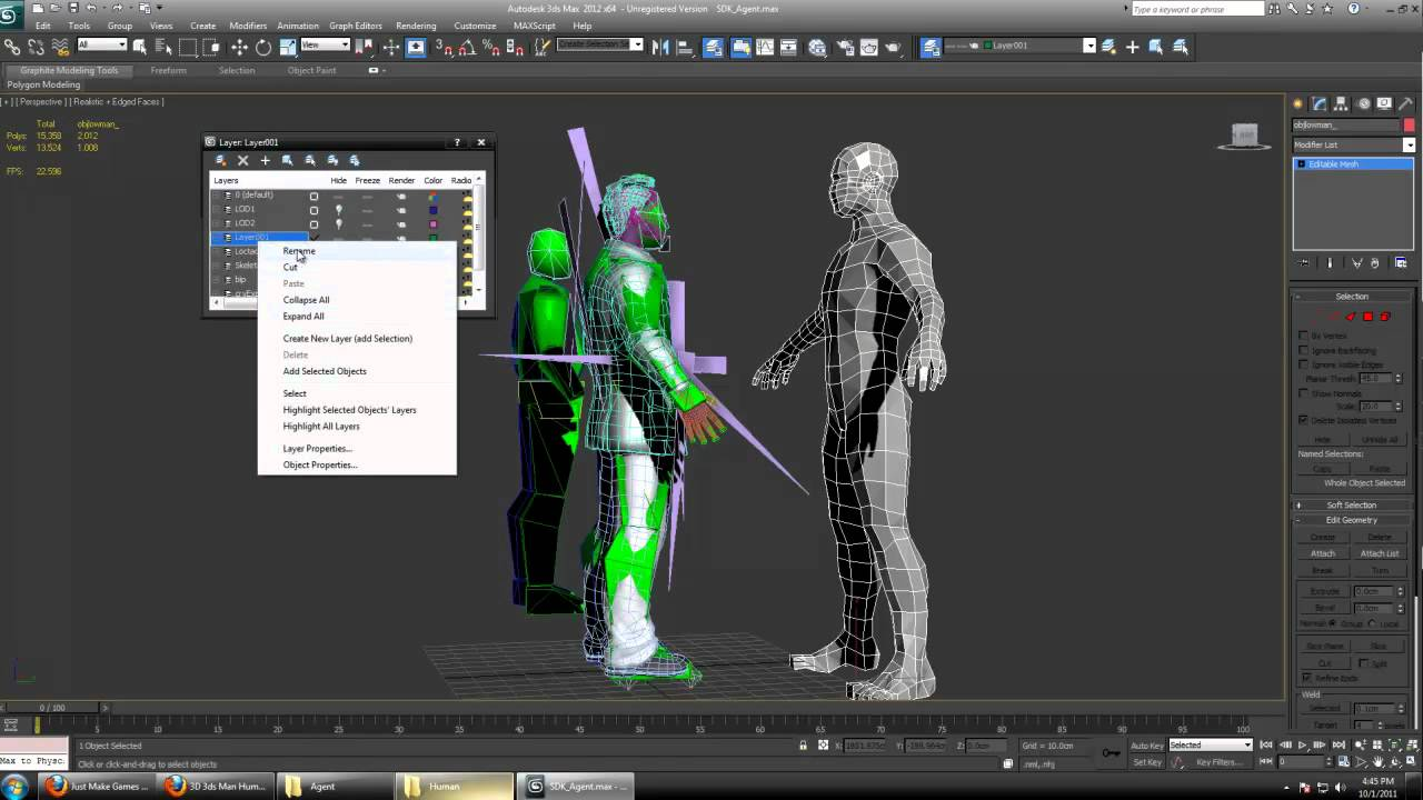03) Cryengine 3 Tutorial - Import / Replace Player Character Model - FREE COOKBOOK (Claimed)