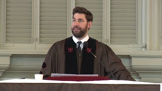 "John Krasinski '01 delivers Brown University's Baccalaureate address, ""What do I know?"""
