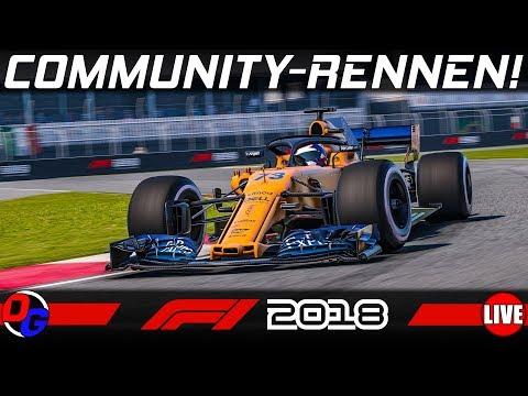 Community Rennen (PC) – F1 2018 Livestream Deutsch | Let's Play Formel 1 Gameplay German