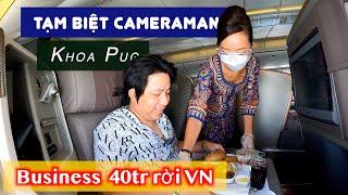 Tạm Biệt Cameraman! Khoa Pug Chi 40 Triệu Bay Hạng Thương Gia One Way Trên Singapore Airline Rời VN