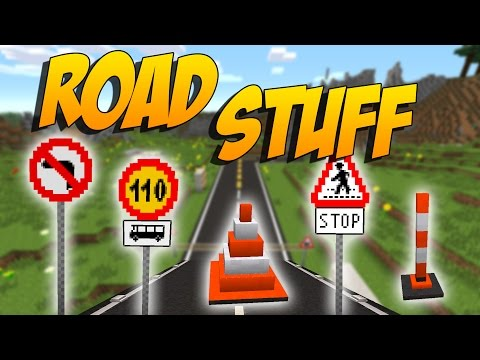MOD DE CARRETERAS PARA CABALLOS: Road Stuff - Minecraft Mod 1.7.10