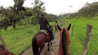GOPRO HERO 3 SILVER Horse Riding in Colombia - Valle De Cocora Paseo de Caballo