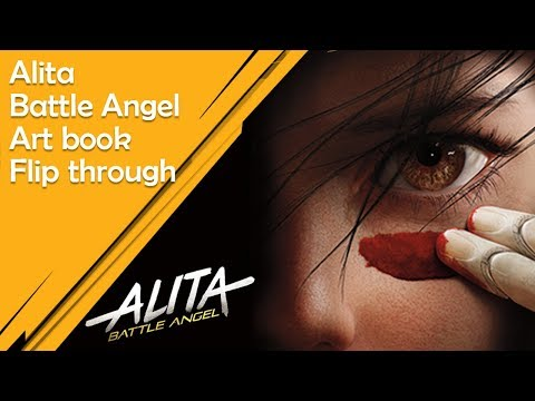 Alita Battle Angel Art book Flip Through