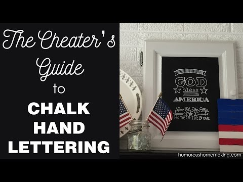 Hand Lettering on a Chalkboard - The Cheater's Way