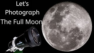 Let's Photograph the Moon with a Telescope