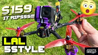 BEGINNER FPV DRONE $159! - EACHINE LAL 5STYLE - FULL REVIEW & FLIGHTS ????