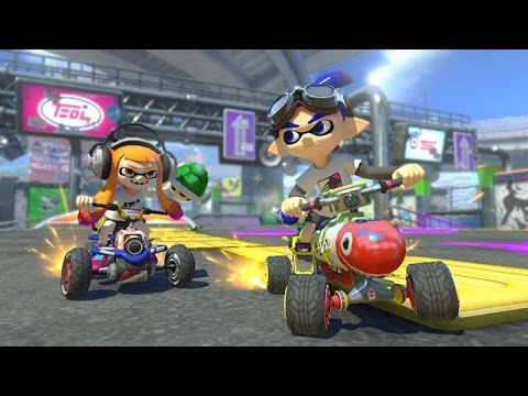 3 Minutes of Mario Kart 8 Deluxe: Inkling Boy vs. King Boo on Urchin Underpass