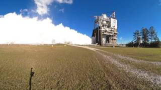 Smoke and Fire with a 360 View of RS-25 Engine Test