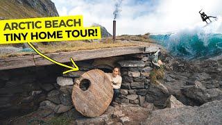 Hobbit Hole Tiny Home Tour - Surviving The Arctic Winter
