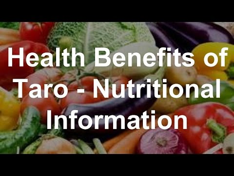 mp4 Nutrition Facts Taro, download Nutrition Facts Taro video klip Nutrition Facts Taro