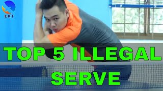 TOP 5 ILLEGAL SERVES IN PING PONG