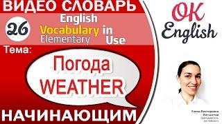 Тема 26 Weather - Погода. Как говорить о погоде для начинающих📕  | OK English