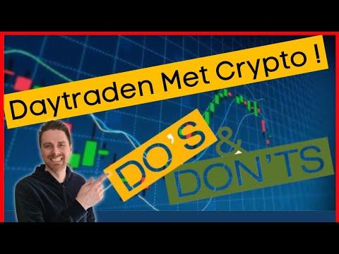 DAYTRADEN met crypto doe je zo! We beginnen met de theorie.