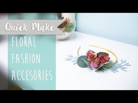 Floral Fashion Accessories - Sizzix