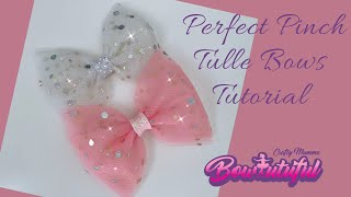 Perfect Pinch Tulle Hair Bow..How To Make Hair Bows. DIY Hair Bows Tutorial  🎀 Laços De Fita: