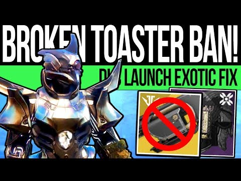 Destiny 2 | TOASTER BEING BANNED! Bungie Disable Jotunn for DLC Raid & Future Nerf/Fix! (Shadowkeep)