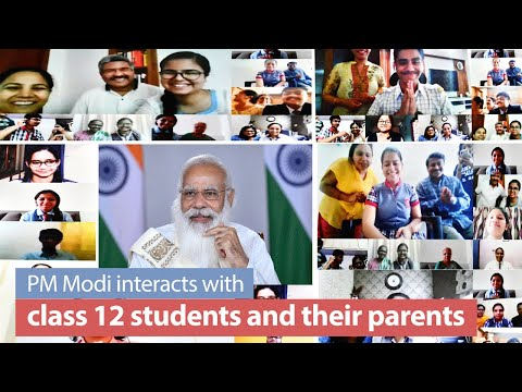 PM's interaction with students & their parents