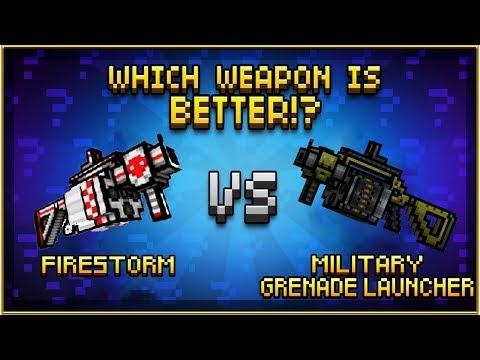 Firestorm VS Military Grenade Launcher - Pixel Gun 3D