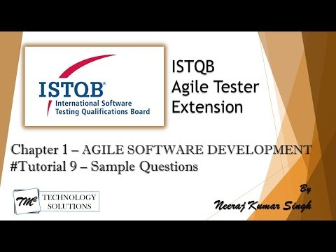 ISTQB Agile Tester Extension | Sample Question on Chapter 1 ...