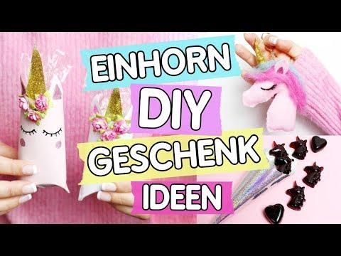 DIY Einhorn 🦄 Geschenke: Einhorn Boxen, Schlüsselanhänger & Gummibärchen selber machen!
