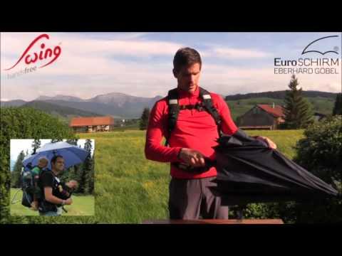 euroSCHIRM Swing Handsfree Umbrella @ Campmor