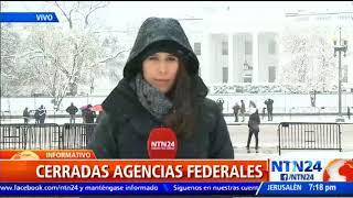 Tormenta de nieve en EE. UU. provoca el cierre de las oficinas federales