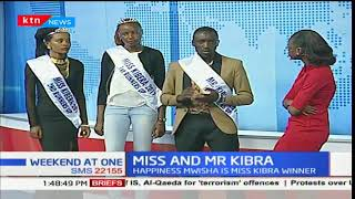 Winners and runners-up for Mr and Miss Kibra competition