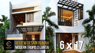 Video Desain Rumah Modern 2 Lantai Ibu Dyana di  Jakarta Utara