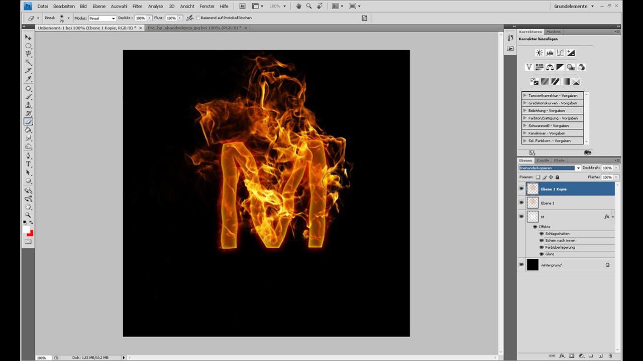 Realistische Flammen-Texteffekte – Photoshop-Tutorial