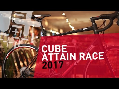 Видео о Велосипед Cube ATTAIN RACE black-red