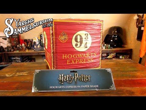 Review GROOVY Harry Potter - Hogwarts Express Papier Leuchtenschirm - Unboxing deutsch