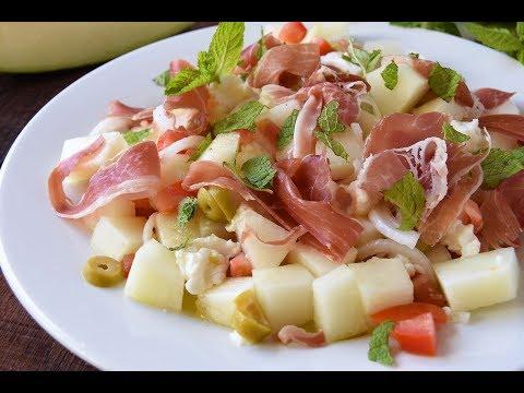 Ensalada de melón fresca y ligera