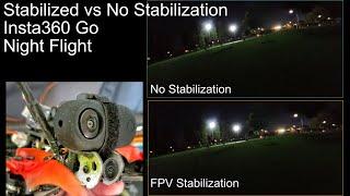 FPV Insta360 GO Stabilized vs No Stabilization on Tinyhawk 2 Freestyle
