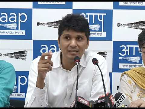 AAP Chief Spokesperson Briefs Media on How our MLA's are been Humiliated by LG & Delhi Police