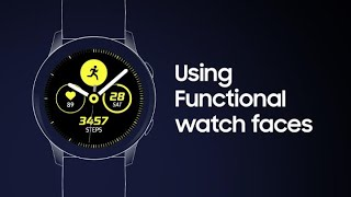 Galaxy Watch Active: How to use Functional watch faces thumbnail