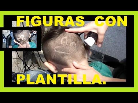 Figuras en el corte de cabello con Plantilla | Eres Hermosa.