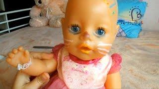 Кукла Беби бон Делаем макияж на бал Красим лицо Беби бону