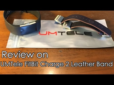 Review on UMTele FitBit Charge 2 Leather Band