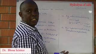 Hydrolysis of salts By Dr Bbosa Science