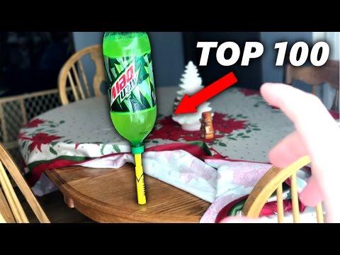 TOP 100 LUCKIEST WATER BOTTLE FLIPS ( INSANE Water Bottle Trick shots Compilation )