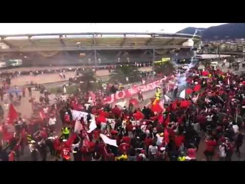 """""""Disturbio Rojo Bogota"""" Barra: Disturbio Rojo Bogotá • Club: América de Cáli"""