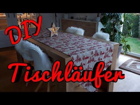 DIY Tischläufer Weihnachtsdeko Tischläufer DIY Tischläufer nähen Tischdecke nähen