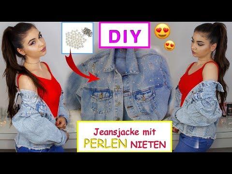 DIY Primark  Jeansjacke mit PERLEN verschönern - Hack - Yaseminboom