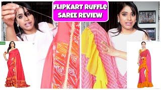 Affordable Designer Ruffle Saree Review | Ruffle Sarees Under 1000 Rs. | Indian Mom Studio