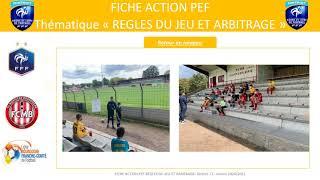 P.E.F REGLES DU JEU ET ARBITRAGE saison 2020-2021