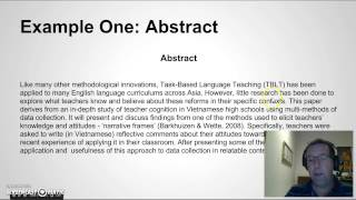 Writing an Abstract for your Research Paper