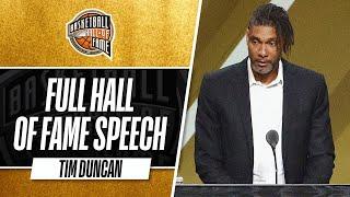 Tim Duncan   Hall of Fame Enshrinement Speech