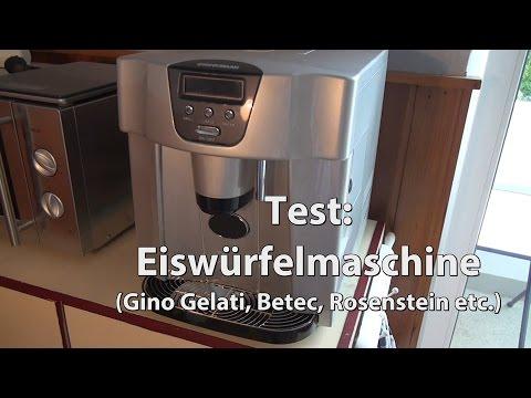 Test: Eiswürfelmaschine / Eiswürfel-Bereiter (Gino Gelati, Betec, Rosenstein Icemaker)